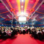 Gala-Menue für 800 Gäste im Zelt des Circus Roncalli, Dortmund