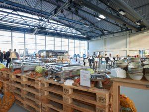Der Hangar ist verwandelbar – und wunderbar!